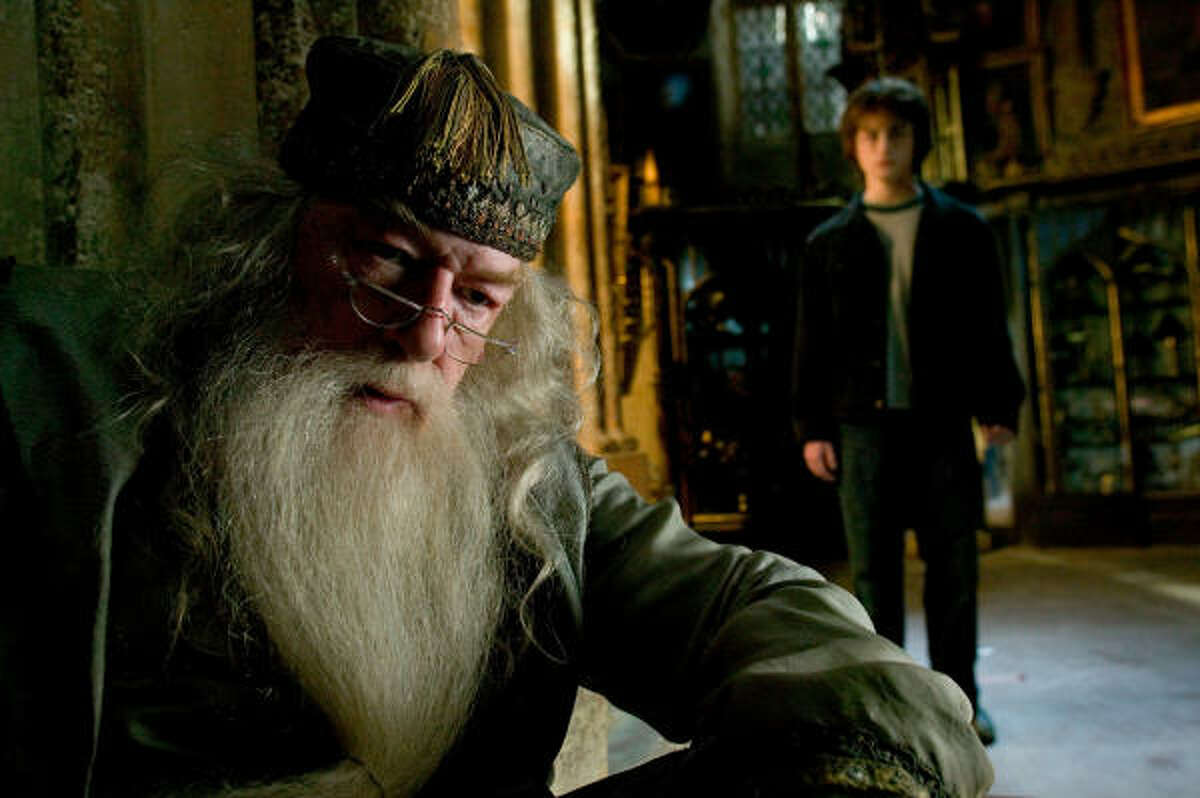 Albus Dumbledore's mysterious past and his lack of relationships with women have fueled speculation about the master wizard, left, played by Michael Gambon in Harry Potter and the Goblet of Fire.