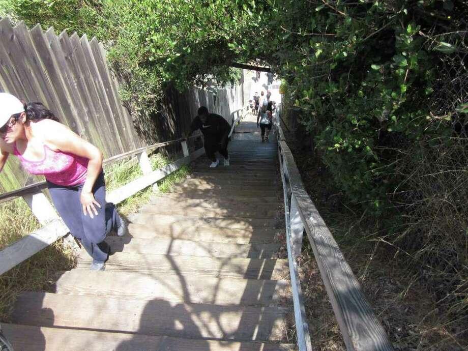 Santa Monica stairs Photo: Sarah Tressler
