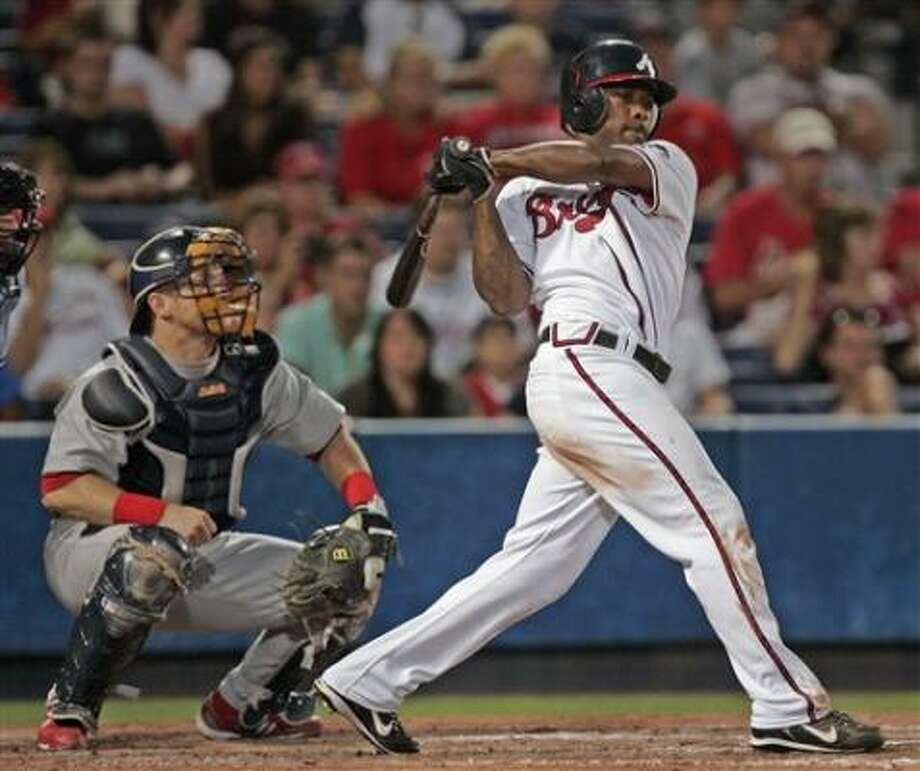 Willie Harris is Atlanta's first player with a six-hit game since Felix Millan in 1970. Photo: John Bazemore, AP