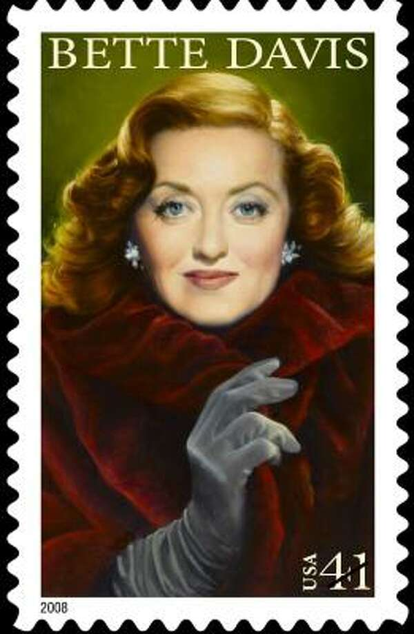 In 2008, the 100th anniversary of her birth, actress Bette Davis will be honored on a stamp, the 14th in the Legends of Hollywood Series. Photo: HO, AFP/GETTY IMAGES