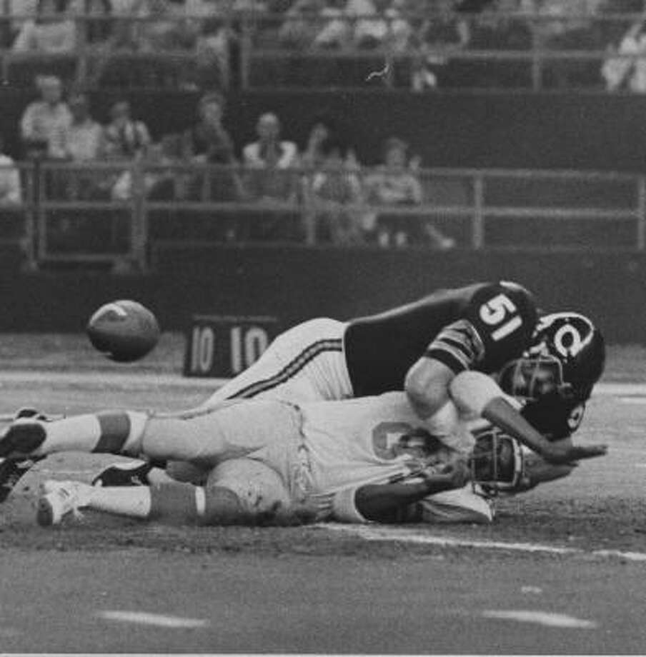 Opponents were happy when Dick Butkus retired due to his injuries and pursued an acting career. Photo: Chronicle File
