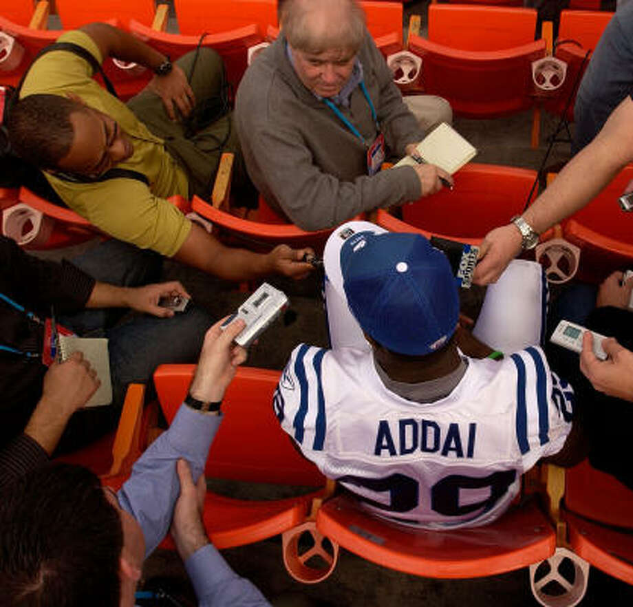 Joseph Addai is capping his rookie season with a Super Bowl appearance. Photo: Michael Heiman, Getty Images