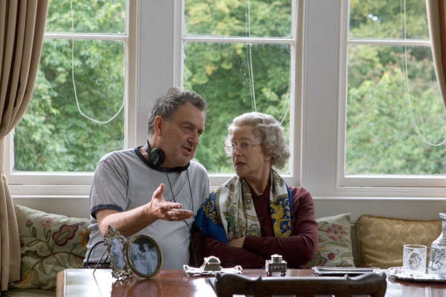 British director Stephen Frears and Dame Helen Mirren, on the set of The Queen. Photo: Miramax