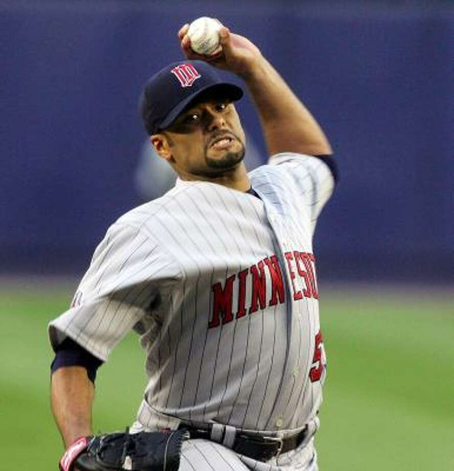 Minnesota's Johan Santana was at his untouchable best on Tuesday, shutting out New York on the road. Photo: JIM McISAAC, GETTY IMAGES