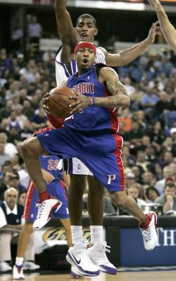Detroit Pistons guard Allen Iverson went for 30 points and 9 assists in the Pistons' 100-92 win over the Sacramento Kings. Photo: Rich Pedroncelli, AP