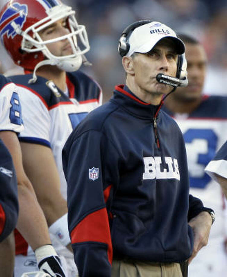 Former head coach hired in 2006 Buffalo: Dick Jauron – 2008: 5-4 2007: 7-9 2006: 7-9 Total: 19-22 Winning percentage 46.3% Photo: Elise Amendola, AP