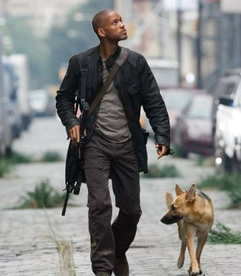 Robert Neville (Will Smith) is the last man on Earth in I Am Legend. The film earned $76.5 million at the weekend box office. Photo: BARRY WETCHER, WARNER BROS. PICTURES