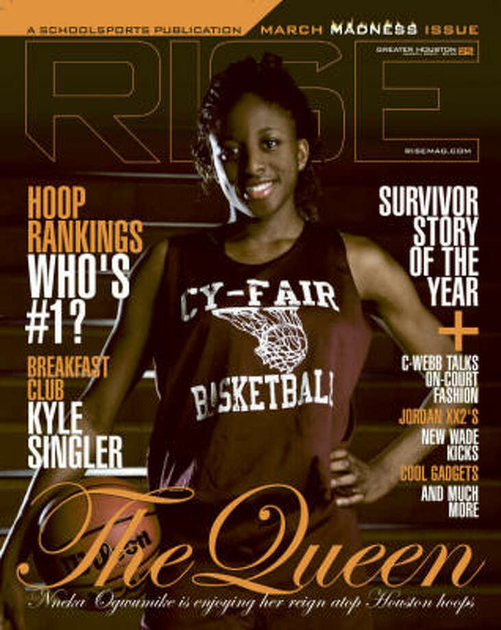 Cy-Fair basketball player Nneka Ogwumike is being featured on the cover of RISE magazine in March. Photo: Special To The Chronicle