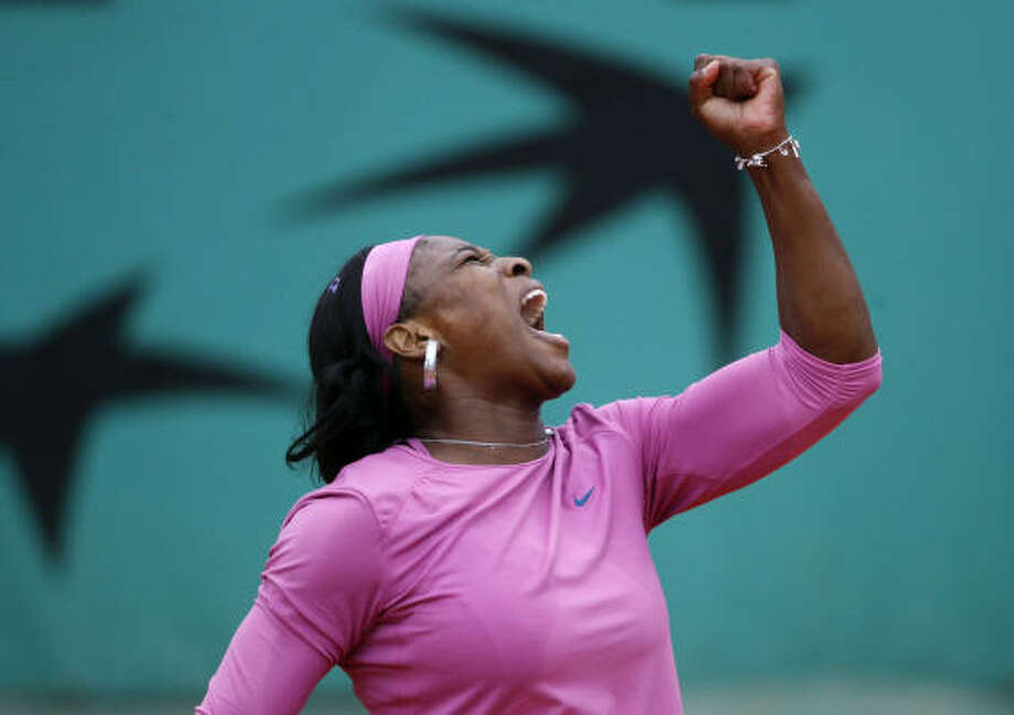 Serena Williams got past Bulgaria's Tsvetana Pironkova during their first round match at the French Open, but it was harder that she expected. Photo: Laurent Baheux, AP