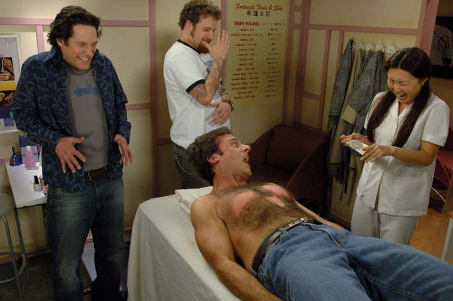 The hair-waxing scene in The 40-Year-Old Virgin is one of the film's funniest moments. Photo: ASSOCIATED PRESS