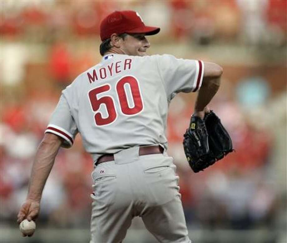 The Phillies are now 9-1 when Jamie Moyer starts after a loss. Photo: Jeff Roberson, AP