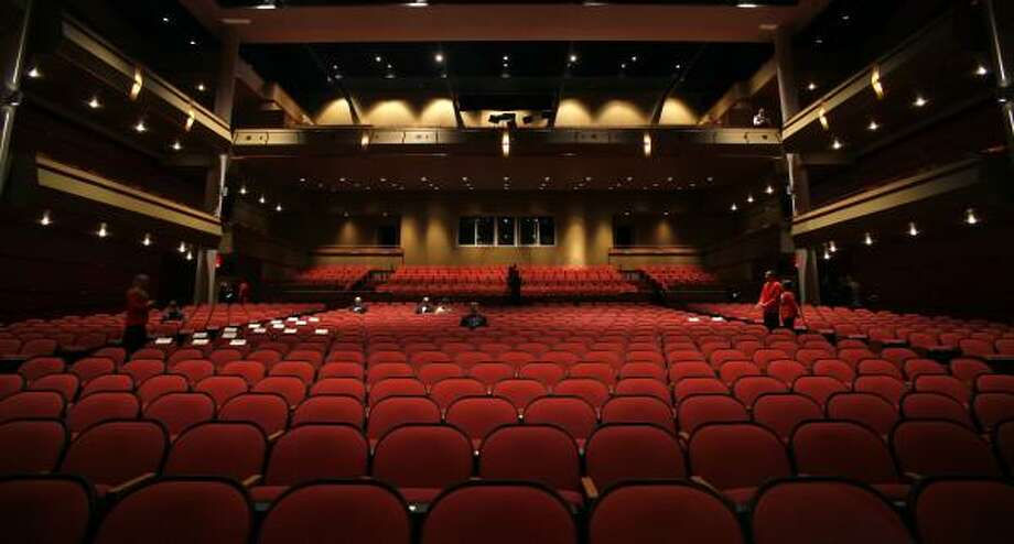 The new Morris Cultural Arts Center at Houston Baptist University is segmented into three spaces: a large multipurpose theater, pictured, a smaller chapel/recital hall and space for three museums. Photo: STEVE UECKERT, CHRONICLE