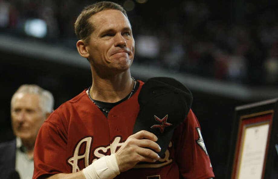 Although Craig Biggio's formal farewell came in September, his retirement was made official today. Photo: Karen Warren, Chronicle