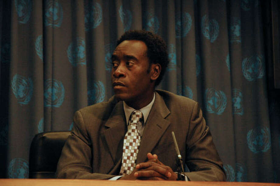 HOPING TO MAKE A DIFFERENCE:Film star Don Cheadle is doing his part - through a film documentary and book - to raise awareness of and an to end the suffering in Darfur. Photo: Warner Independent Pictures