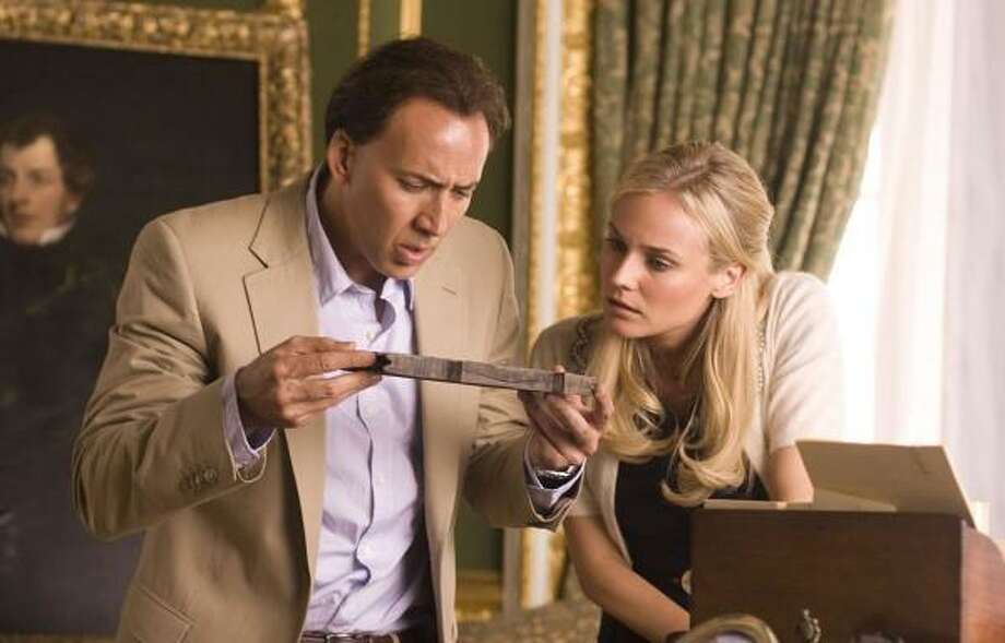 Nicolas Cage and Diane Kruger star in National Treasure: Book of Secrets. Photo: WALT DISNEY PICTURES   MCT