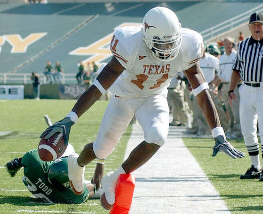 Texas' Ramonce Taylor provided a number of highlight reel-quality plays during his two seasons with the Longhorns. He's hoping those, and not his off-the-field problems, will stick in scouts minds. Photo: JERRY LARSON, AP