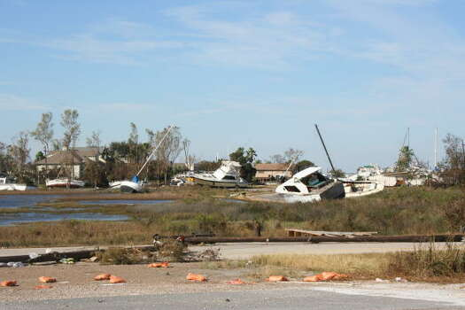 More boats in the marsh in Galveston Photo: Gene Haddock, CHronicle Vice President, Circulation