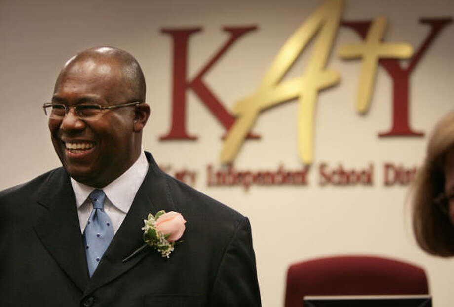 Katy's school board chose Alton Frailey as its new superintendent during a meeting on Thursday, May 10, 2007 at the Katy Education Support Center. Photo: Mayra Beltran, Houston Chronicle