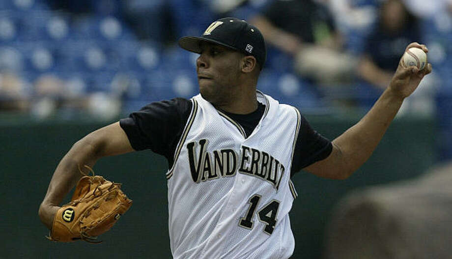 Vanderbilt's hard-throwing David Price is the first lefthanded pitcher to be selected No. 1 overall since Brien Taylor was taken by the Yankees in 1991 Photo: Dave Martin, AP