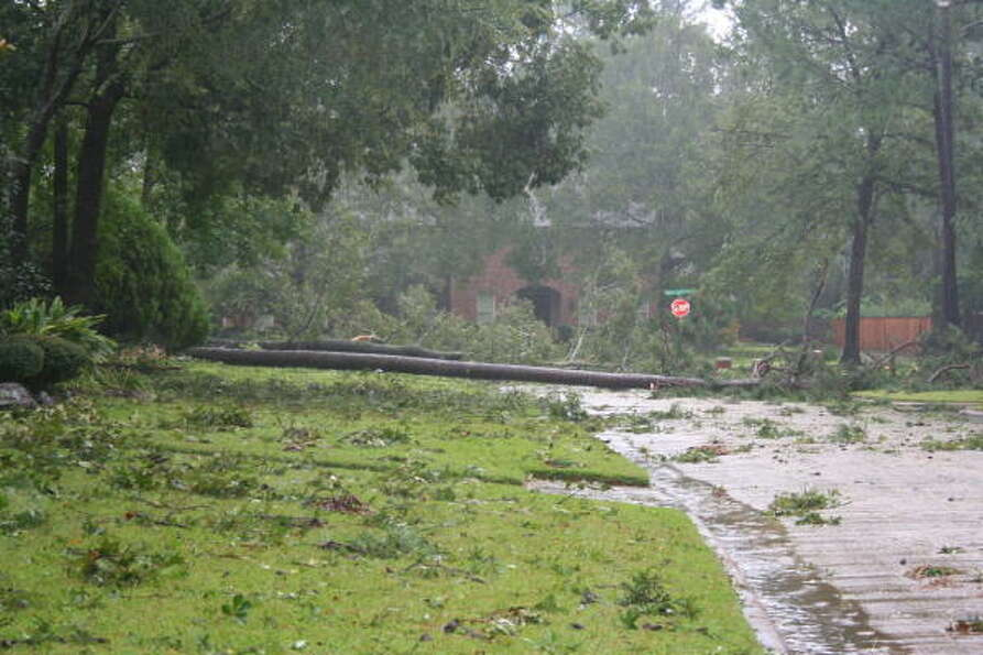 King's Point subdivision in Kingwood suffered damage from Hurricane Ike.