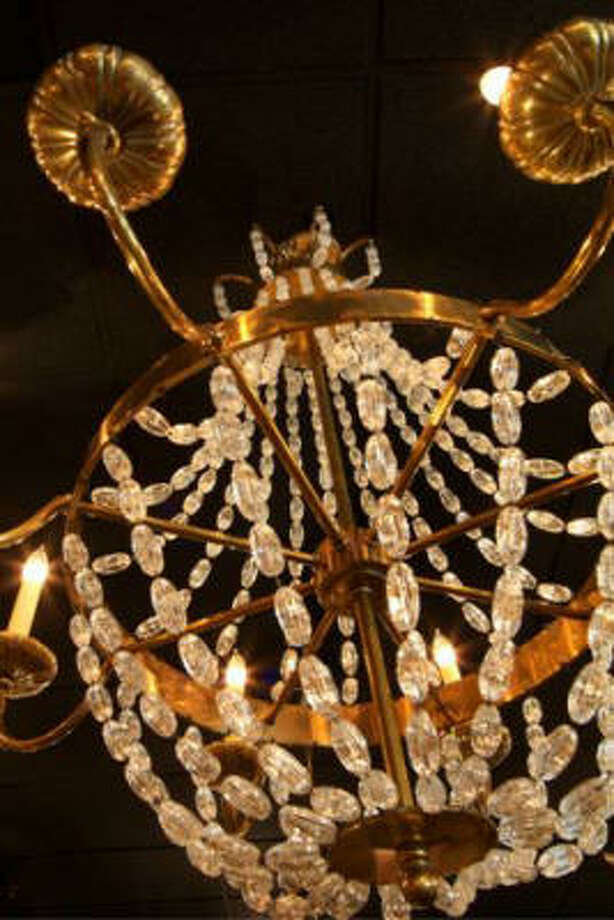 Brass and clear crystal beads Photo: Design House