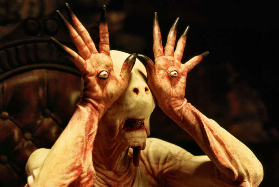 A young girl finds all sorts of creatures living behind her home, in Pan's Labyrinth. Photo: Picturehouse