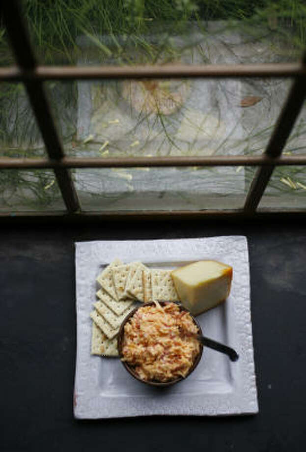 "Dairymade Pimento Cheese earns an ""adult"" rating with Veldhuizen's Provalone, Paragon and Texas Gold Chedder cheeses. Photo: KAREN WARREN, Chronicle"