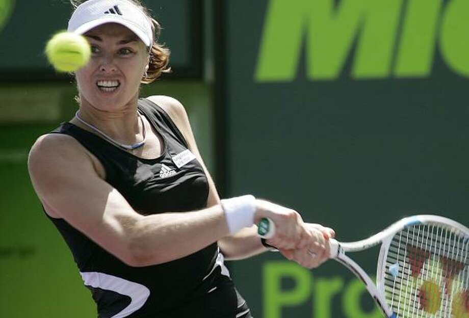 Martina Hingis is comfortable on the court after coming out of retirement in 2005. Photo: J. PAT CARTER, ASSOCIATED PRESS