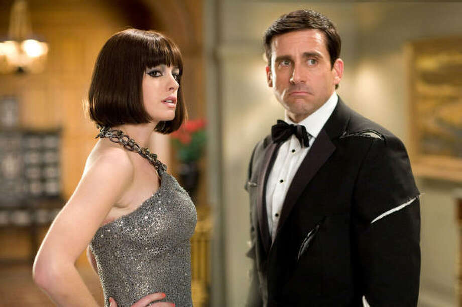 Anne Hathaway and Steve Carell star in Get Smart. Photo: Tracy Bennett, Associated Press