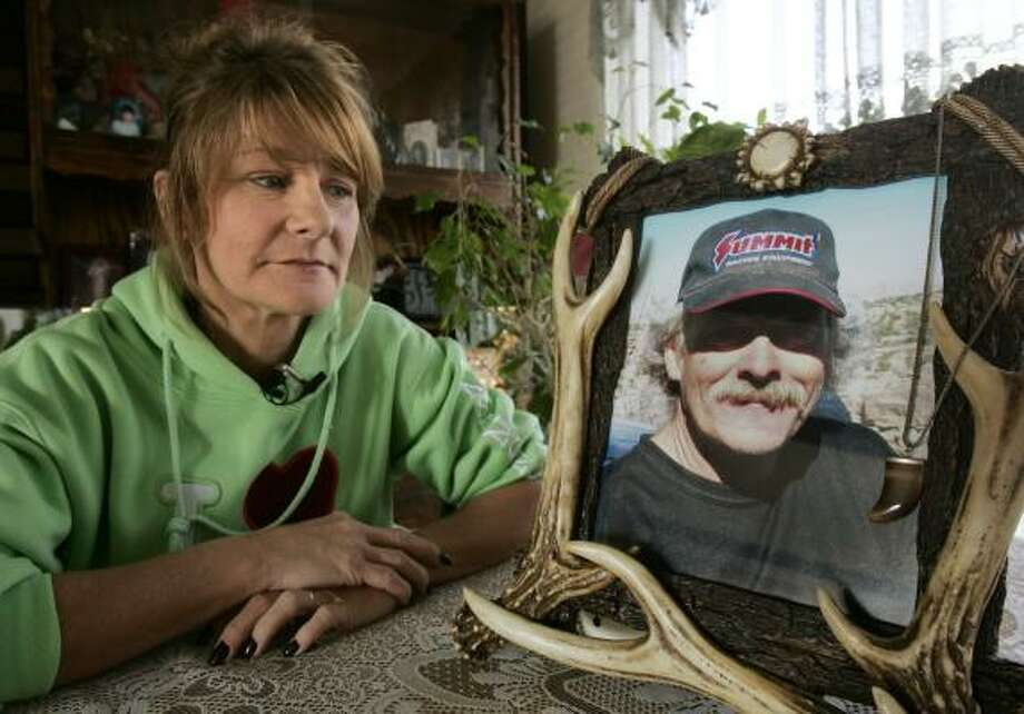 "Wendy Black's husband, Dale ""Bird"" Black, was killed trying to rescue trapped miners from the Crandall Canyon collapse in August. ""He lived every day as big as he died,"" she said. Photo: DOUGLAS C. PIZAC, ASSOCIATED PRESS"