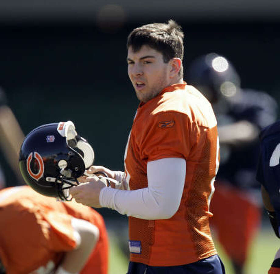 University of Florida product Rex Grossman was back in the Sunshine State on Monday, working out with the Bears in Miami in preparation for Super Bowl XLI. Photo: Jeff Roberson, AP