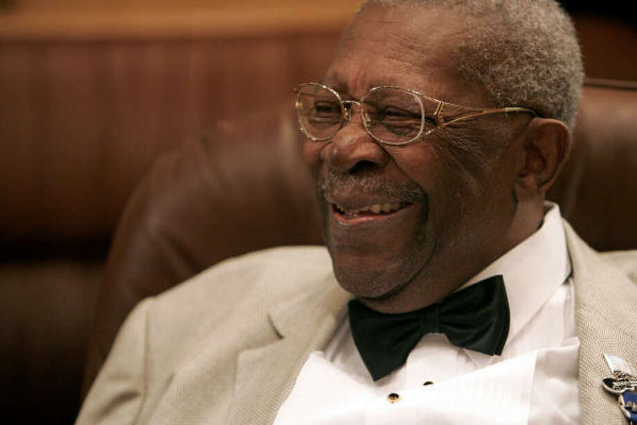 Blues legend B.B. King, seen here during an interview at the Kodak Theatre in Los Angeles earlier this month, was hospitalized in good condition at the University of Texas Medical Branch at Galveston on Thursday night. Photo: Danny Moloshok, AP