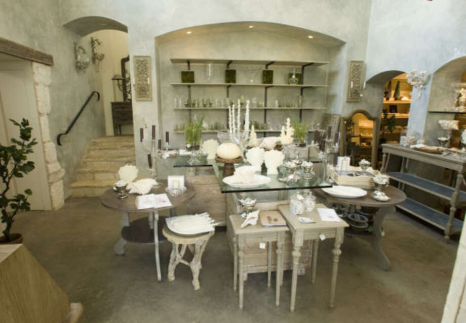 INDULGE DÉCORWhen it comes to French countryside chic, no one in Houston does it better than Indulge, located in a Provençal-style garden and trio of buildings on a quiet street in River Oaks. As the exclusive U.S. importer of French line Blanc d'Ivoire, the store is full of wicker chairs, white wooden furniture with classic lines, linen headboards and more, flanked by appropriately luxe Yves Delorme towels, Sferra bedding and tabletop glassware by Juliska as well as bath products by Marseille and Côté Bastide. 2903 Saint, 713-888-0181, indulgedecor.com. Photo: Brett Coomer, Houston Chronicle