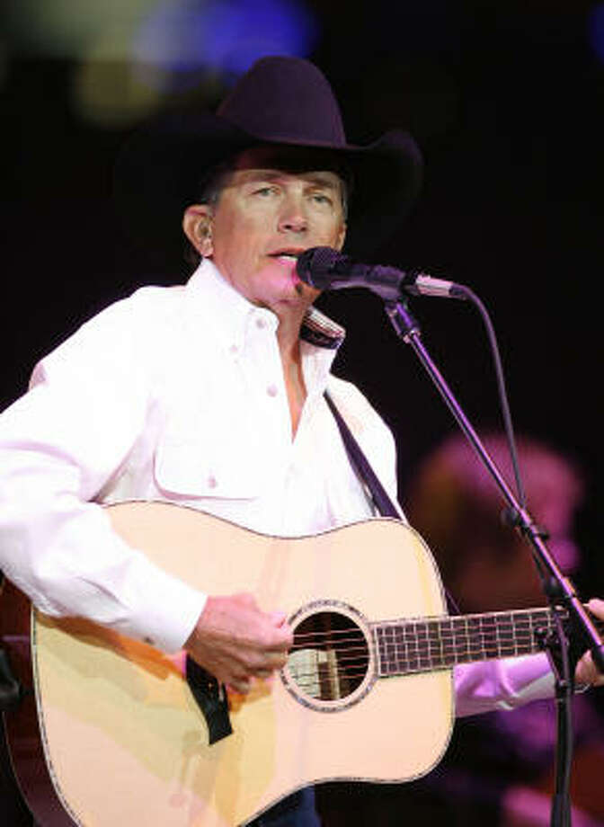 George Strait performs at the Houston Livestock Show and Rodeo. Photo: James Nielsen, Chronicle