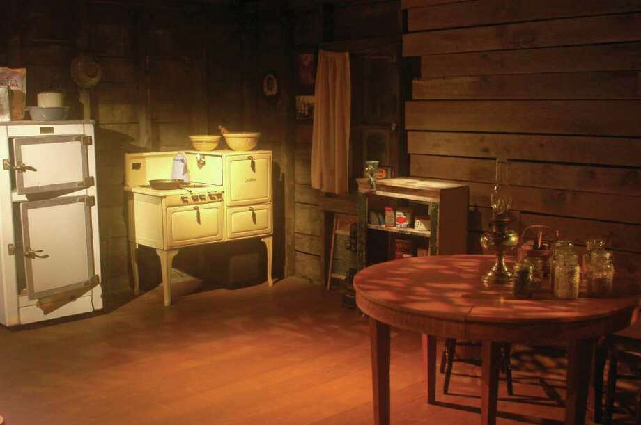 Martha ìMattî Langevinís replicated kitchen sets the stage for a multimedia presentation telling the story of Pequot life on and off the reservation in the early 20th century. Photo: Contributed Photo