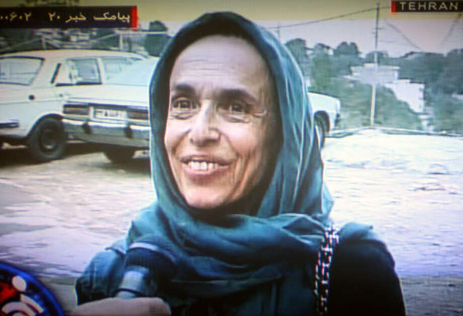 The family of Haleh Esfandiari, shown in this image broadcast by the Islamic Republic of Iran News Network on Tuesday, denies she threatened Iran national security. Photo: AFP/Getty Images