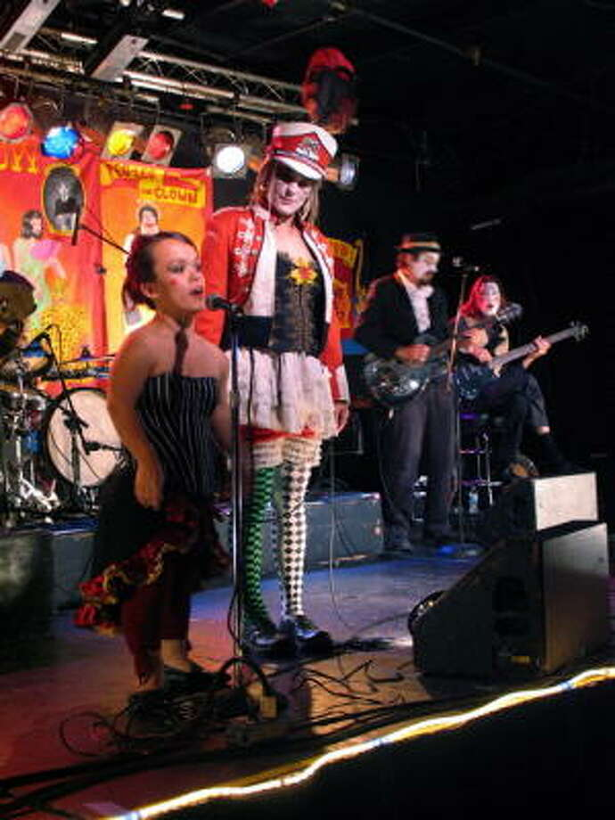 According to its Web site, the 999 Eye vaudevillian freak show is the last genuine traveling freak show in the United States. It made its way to Meridian, 1503 Chartres, on Thursday night. Photo: Jordan Graber, For The Chronicle