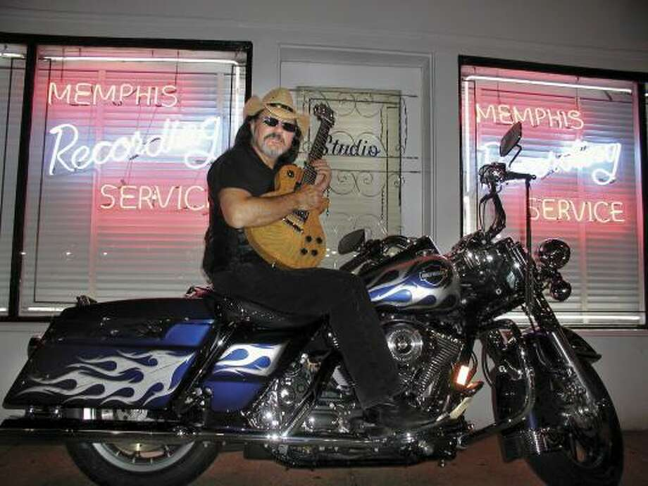 Mean Gene Kelton and the Diehards recorded Going Back to Memphis: A Biker Band Tribute to Elvis at the legendary Sun Studios, where Elvis was discovered. Photo: Joni Kelton
