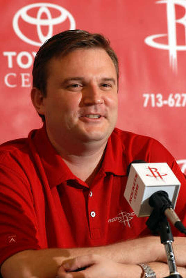 Rockets general manager Daryl Morey spoke on everything from the acquisition of Ron Artest to the possibility of a championship season. Hear what Morey had to say about Artest. Photo: Dave Rossman, For The Chronicle