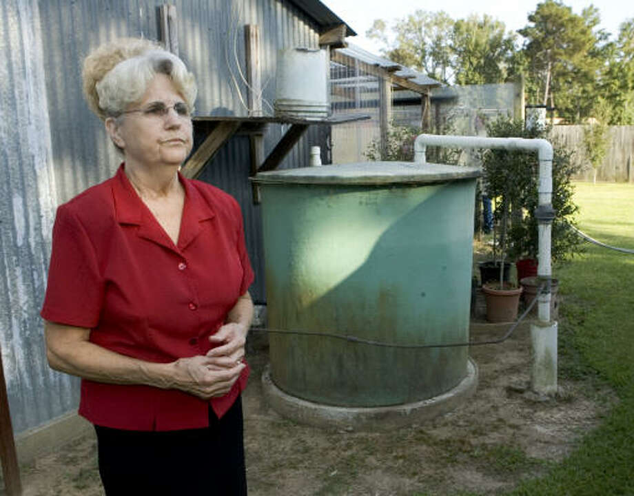 Shirley Hoagland, who has lived at her home along FM3038 near Conroe for 45 years, is part of a group fighting to stop the installation of injection wells behind their homes. Photo: Brett Coomer, Houston Chronicle