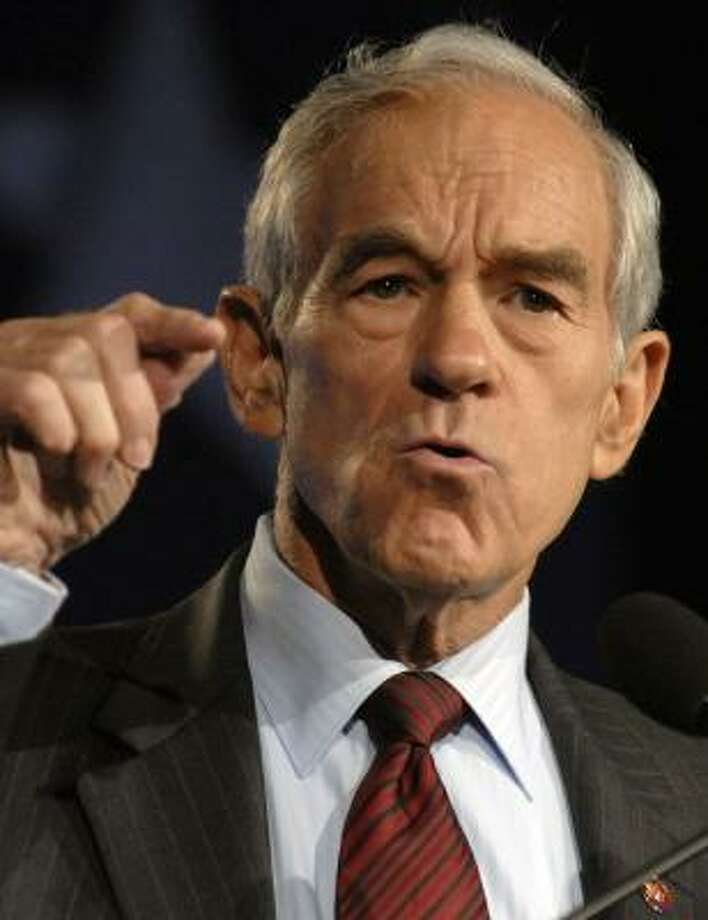 Rep. Ron Paul, R-Texas, joined other GOP presidential candidates at the Values Voter Summit. Photo: CAROL T. POWERS, BLOOMBERG NEWS