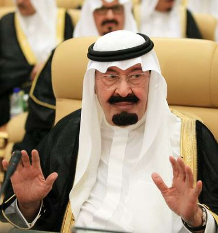 Saudi King Abdullah appeared to rebuke Venezuelan President Hugo Chavez, who called for OPEC to assert itself politically. Photo: HASSAN AMMAR, AFP/GETTY IMAGES