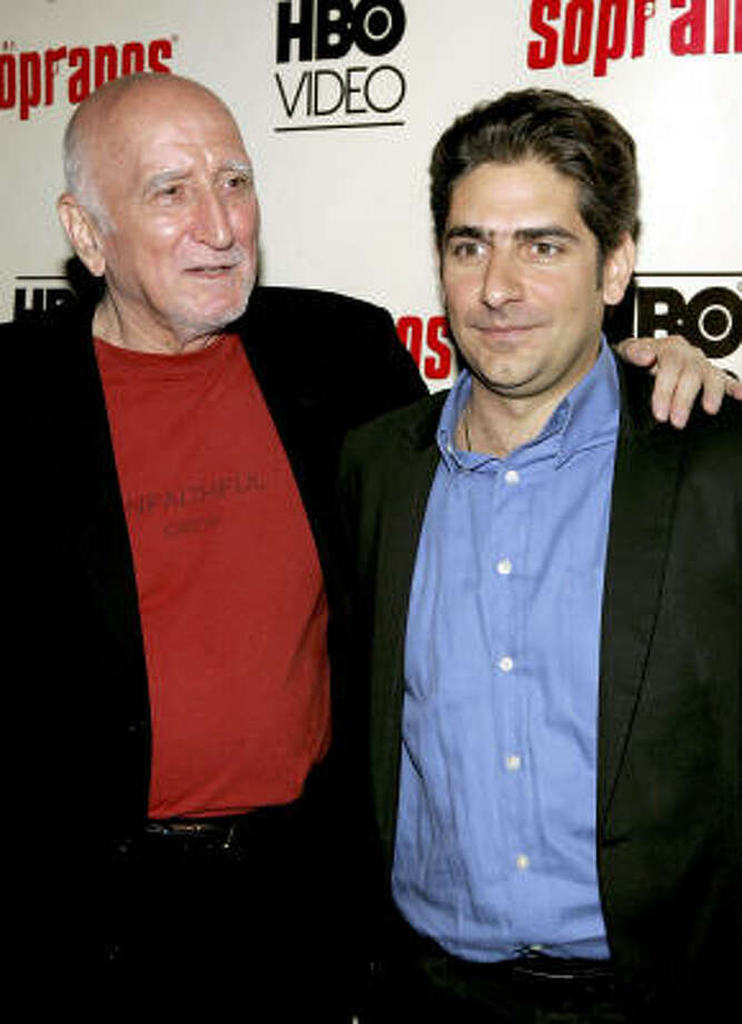 Actors Dominic Chianese, left, and Michael Imperioli both say they're happy with the way their characters go out. Photo: Paul Hawthorne, Getty Images