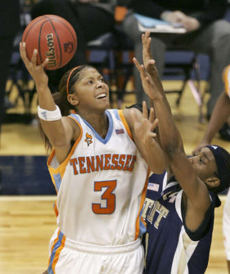 Last season, Tennessee's Candace Parker became the youngest player to win the Wade and Wooden national player of the year awards Photo: Keith Srakocic, AP
