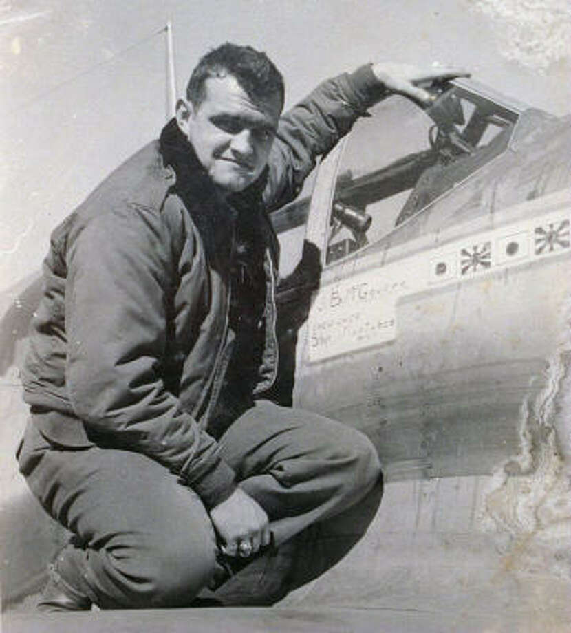 Capt. James B. McGovern Jr. of Elizabeth, N.J., poses on the wing of his World War II fighter plane at an unknown location in this undated file photo provided by his family. Photo: AP
