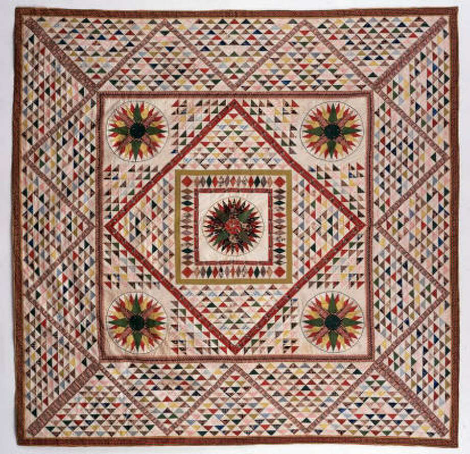 Francis Scott Key Family Quilt, c. 1840. The DAR Museum Collection: Quilts of a Young Country at the International Quilt Festival. Photo: International Quilt Festival
