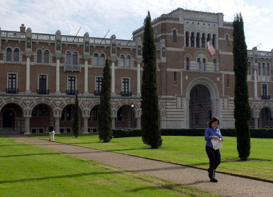 Rice University Administration Building (Lovett Hall) at 6100 Main Photo: PAT SULLIVAN, Associated Press