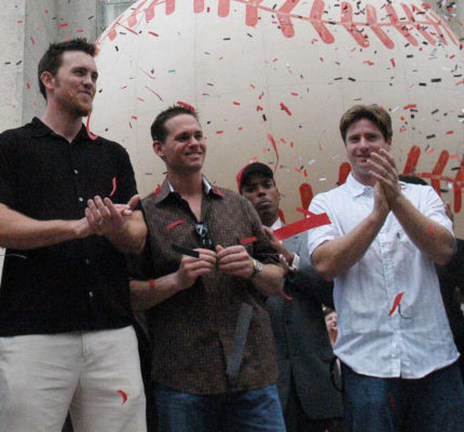Expect Brad Lidge, Craig Biggio and Morgan Ensberg to make headlines in 2007. Photo: Carlos Javier Sanchez, Chronicle