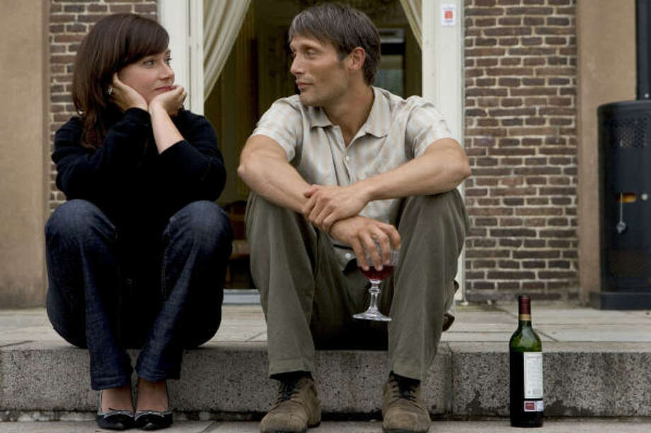 Sidse Bier Knudsen and Mads Mikkelsen in a scene from After the Wedding. Photo: IFC
