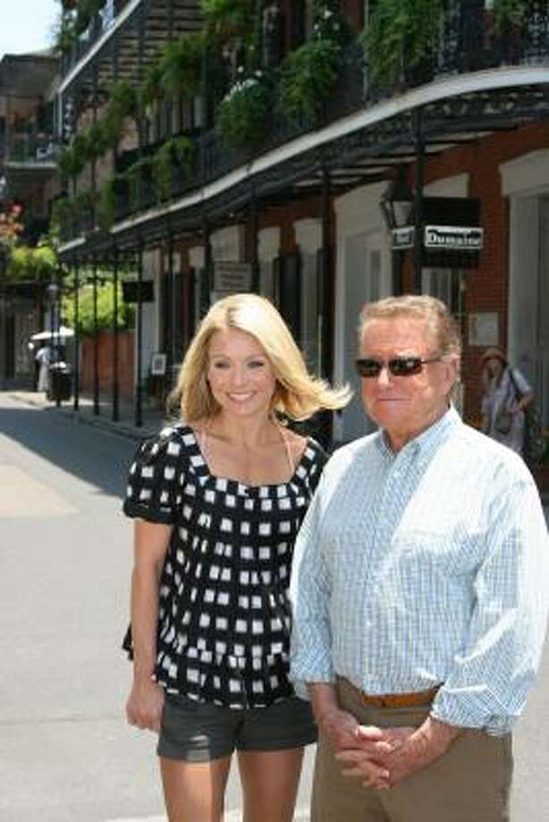 Regis Philbin and Kelly Ripa will move their show outdoors this week, broadcasting from Fulton Street in New Orleans. Photo: ABC